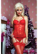 Some Like It Hot Bustier - Red - Small