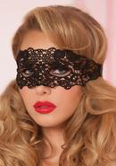 Galloon Lace Eye Mask - Black - O/s
