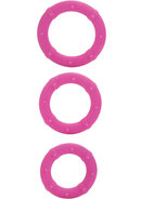 Posh Silicone Love Cock Rings Pink 3 Each