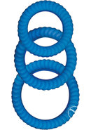 Ram Ultra Cocksweller Silicone Cock Rings Waterproof Blue