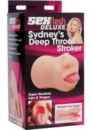 Sex Flesh Deluxe Sydney`s Deep Throat Stroker Flesh