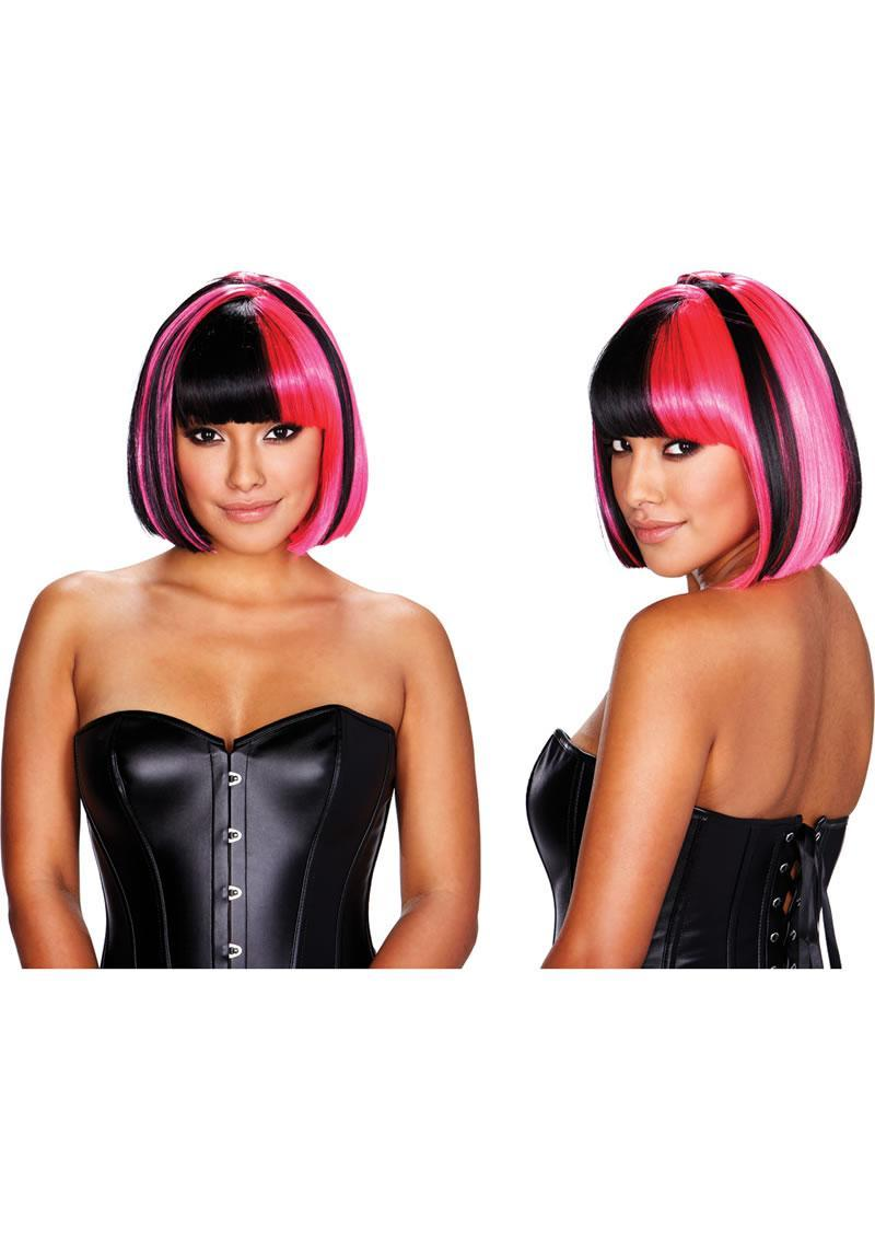 Kitty Wig - Pink / Black