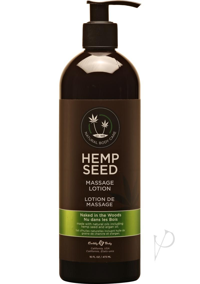 Hemp Seed Massage Lotion Naked In The Woods 16 Ounce