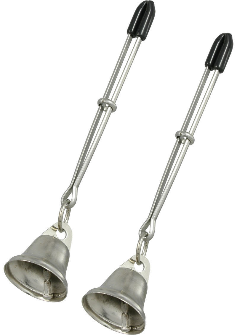 Bell Nipple Clamps With Tweezer Tip Silver