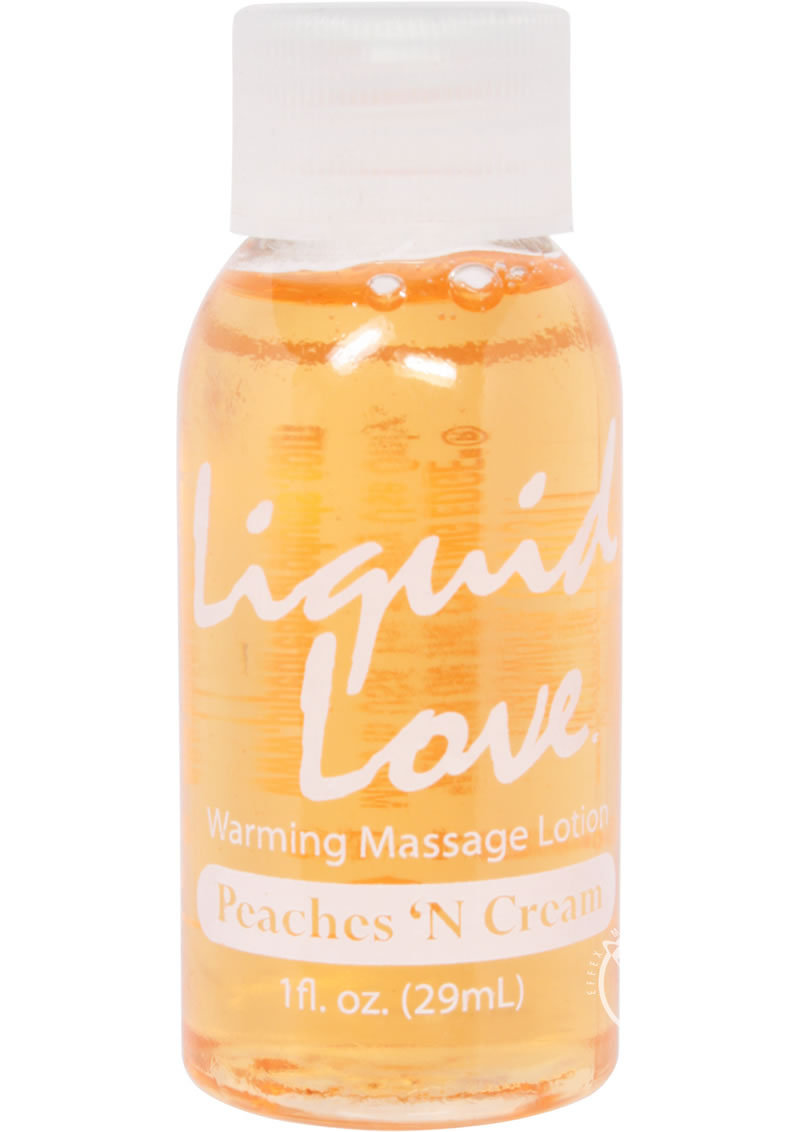 Body Heat Edible Warming Massage Lotion Peaches N Cream 1 Ounce
